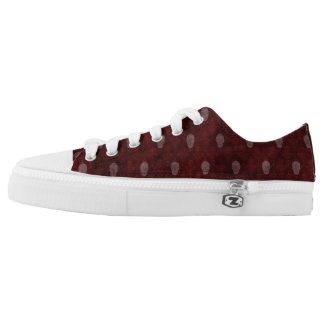Falln Victorian Skulls Red Low-Top Sneakers