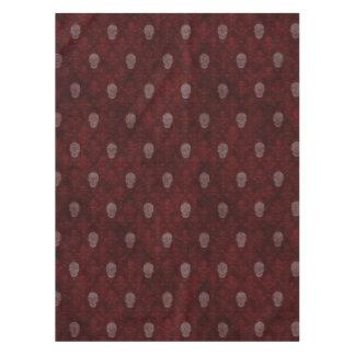 Falln Victorian Skulls Red Tablecloth