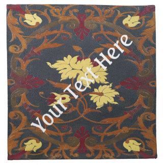 Falln Victorian Vines Book Cloth Napkin