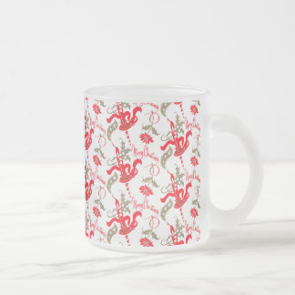 Falln Vintage Merry Christmas Candles Frosted Glass Coffee Mug