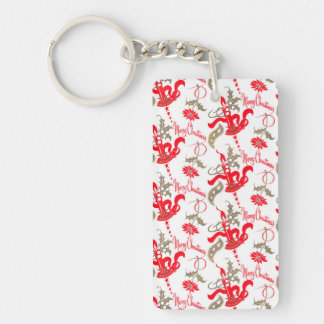 Falln Vintage Merry Christmas Candles Keychain