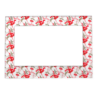 Falln Vintage Merry Christmas Candles Magnetic Frame