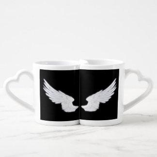 Falln White Angel Wings Coffee Mug Set