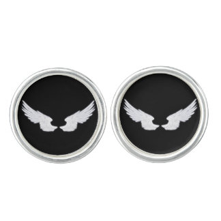 Falln White Angel Wings Cufflinks