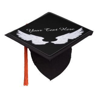 Falln White Angel Wings Graduation Cap Topper