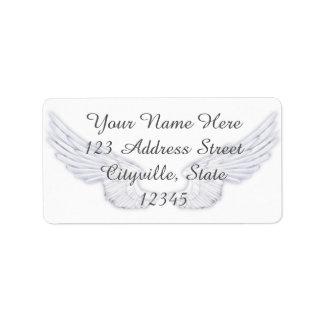 Falln White Angel Wings Label