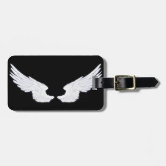 Falln White Angel Wings Luggage Tag