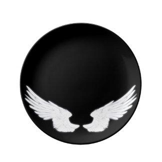 Falln White Angel Wings Plate