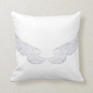 Falln White Angel Wings Throw Pillow