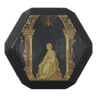 Falln Woman in Gold Book Cover Black Bluetooth Speaker
