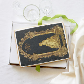 Falln Woman in Gold Book Cover Shortbread Cookie