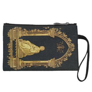 Falln Woman in Gold Book Cover Wristlet Wallet