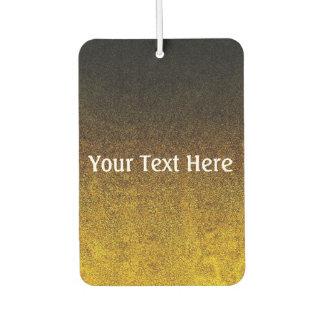 Falln Yellow & Black Glitter Gradient Car Air Freshener