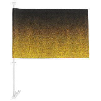Falln Yellow & Black Glitter Gradient Car Flag