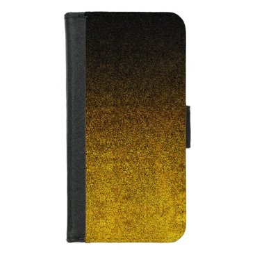 Halloween Themed Falln Yellow & Black Glitter Gradient iPhone 8/7 Wallet Case