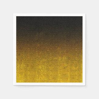 Falln Yellow & Black Glitter Gradient Napkin