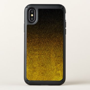 Halloween Themed Falln Yellow & Black Glitter Gradient Speck iPhone X Case