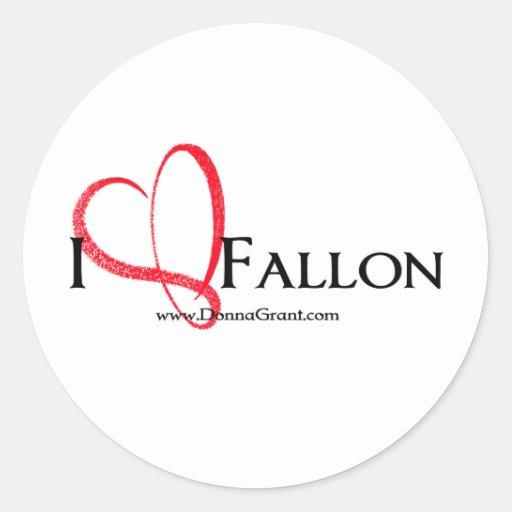 Fallon Round Sticker