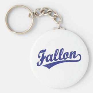 Fallon script logo in blue keychain