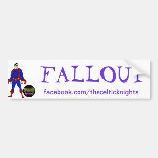 Fallout bumper sticker car bumper sticker
