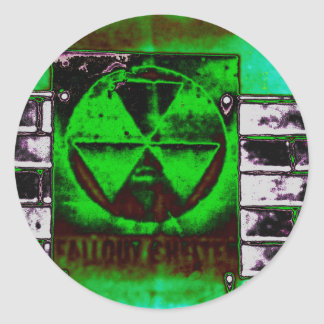 Fallout in the sky classic round sticker