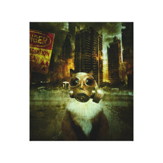 Fallout Kitty Stretched Canvas Print