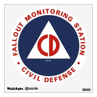 Fallout Monitoring Station Civil Defense Decal Room Graphics