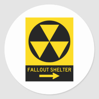 Fallout Shelter Guide Highway Sign Classic Round Sticker
