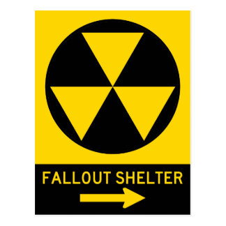 Fallout Shelter Guide Highway Sign Postcard