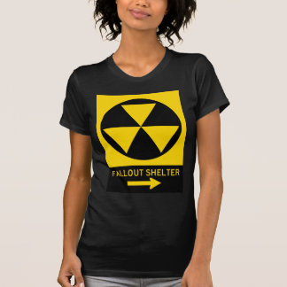 Fallout Shelter Guide Highway Sign Tee Shirts