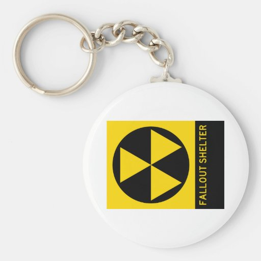 Fallout Shelter Highway Sign Keychain