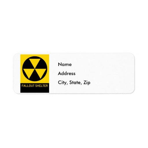 Fallout Shelter Highway Sign Custom Return Address Label