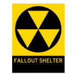 Fallout Shelter Highway Sign Post Card