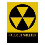 Fallout Shelter Highway Sign Poster