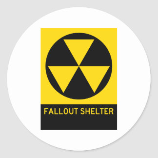 Fallout Shelter Highway Sign Classic Round Sticker