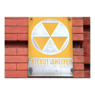 Fallout Shelter Sign 5x7 Paper Invitation Card