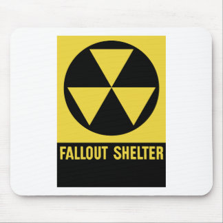 Fallout Shelter Sign Mouse Pad
