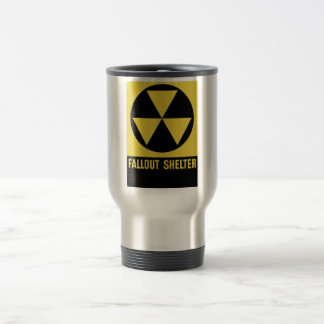 Fallout Shelter Sign 15 Oz Stainless Steel Travel Mug