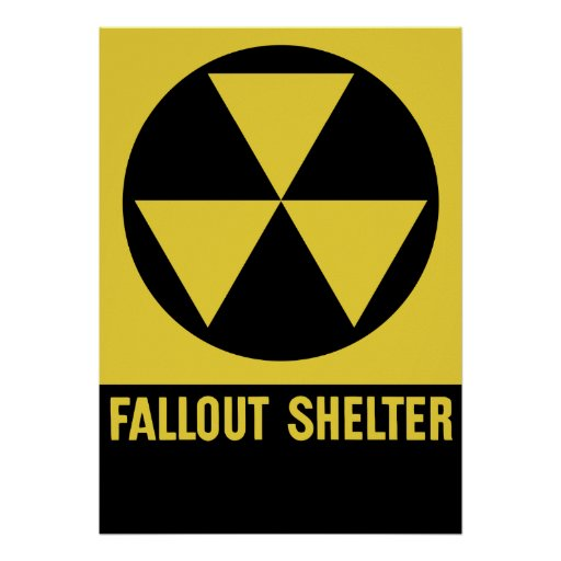 Fallout Shelter Sign Posters
