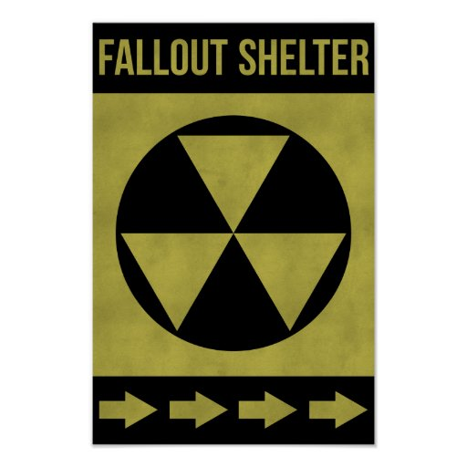 Fallout Shelter Sign Print