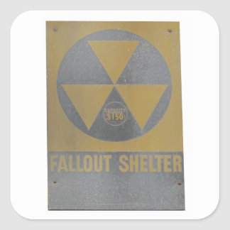 Fallout Shelter Square Sticker