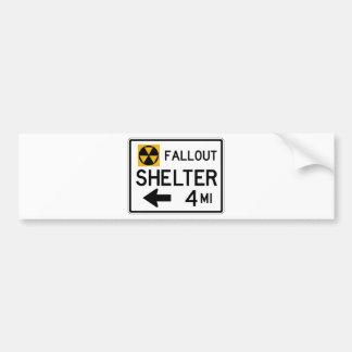 Fallout Shelter Street Sign Bumper Sticker