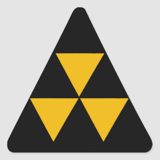 Fallout Shelter Triangle Triangle Sticker
