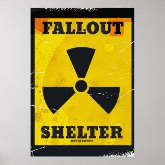 Fallout Shelter vintage warning poster