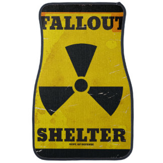Fallout Shelter vintage warning poster Car Mat
