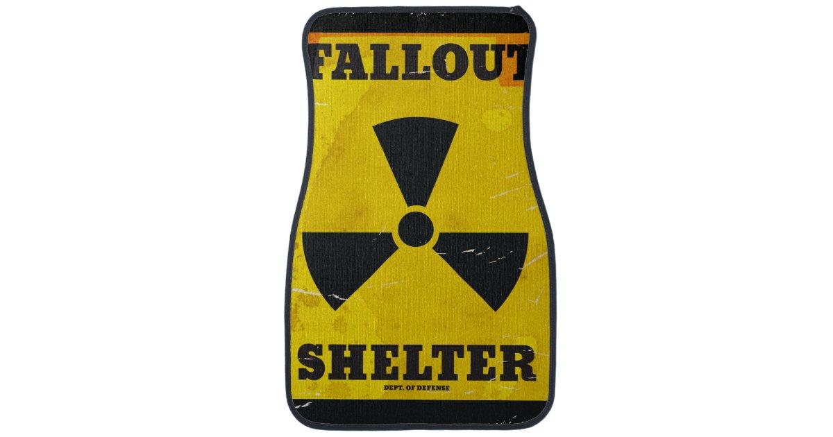 Fallout Shelter Vintage Warning Poster Car Mat Zazzle