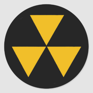 Fallout Symbol Decal Classic Round Sticker
