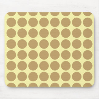 Fallow Cream Neutral Dots Mouse Pad