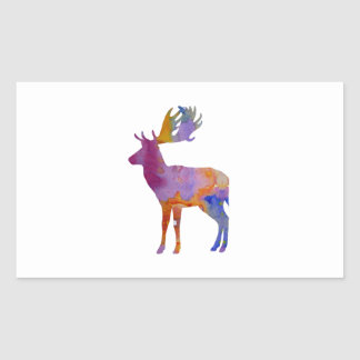Fallow Deer Rectangular Sticker