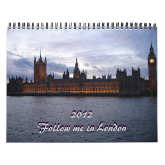 Fallow me in London 2012 calendar